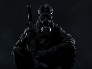 Gas Mask Soldier Tom Clancy's Ghost Recon Wildlands wallpaper