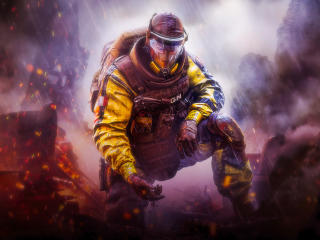 Gas Mask Tom Clancys Rainbow Six Siege wallpaper