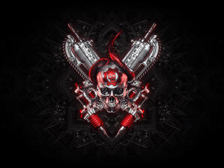 Gears Of War Logo 4K wallpaper