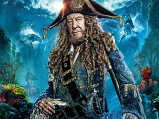Geoffrey Rush In Pirates Of The Caribbean Dead Men Tell No Tales Movie wallpaper