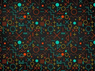 Geometric Shapes Pattern wallpaper