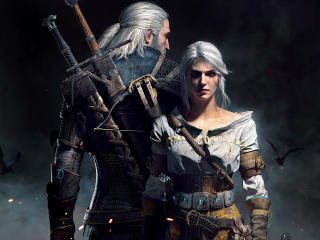 Geralt and Ciri The Witcher 3 Game Poster wallpaper