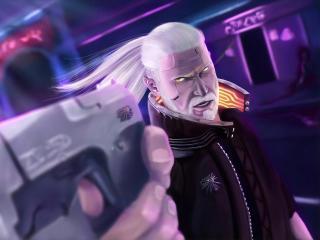 Geralt Cyberpunk 2077 wallpaper