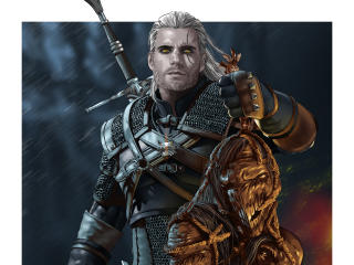 HD Wallpaper | Background Image Geralt Of Rivia Netflix