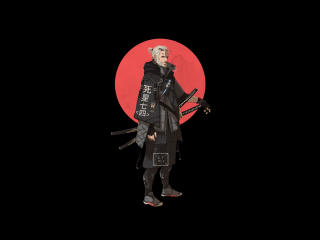 Geralt Witcher Minimal 4K wallpaper