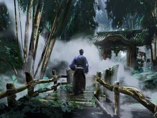 Ghost of Tsushima Jin Sakai Digital Art wallpaper