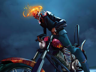 Ghost Rider Cool Illustration wallpaper