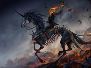 Ghost Rider Horse Riding wallpaper