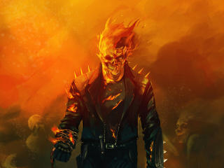 Ghost Rider MCU Art wallpaper