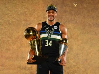 Giannis Antetokounmpo NBA Champion wallpaper