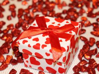 gift, box, ribbon wallpaper