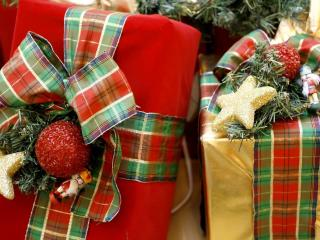 gifts, packaging, holiday wallpaper