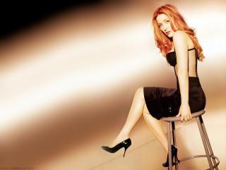 Gillian Anderson Orange Hair wallpaper