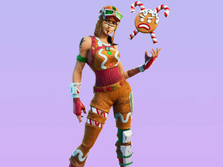 Gingerbread Raider Skin Outfit 4K wallpaper