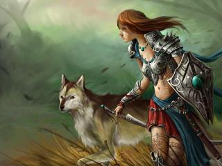 girl, amazon, warrior wallpaper