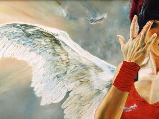 girl, angel, splenium wallpaper