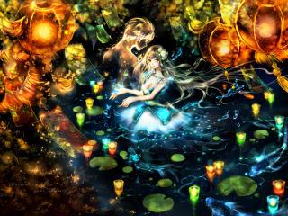 girl, anime, art wallpaper