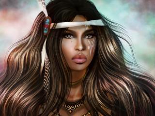 girl, art, face wallpaper