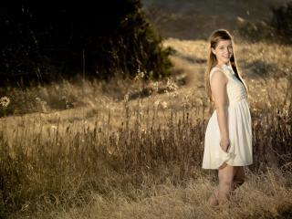 girl, brunette, dress wallpaper