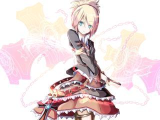girl, dress, chain wallpaper