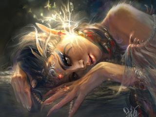 girl, elf, ears wallpaper