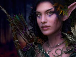 girl, elfeyka, makeup wallpaper