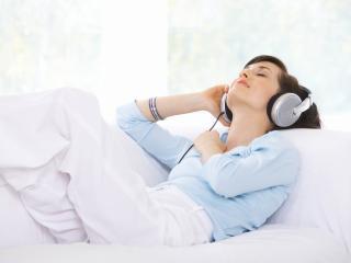 HD Wallpaper | Background Image girl, headphones, music
