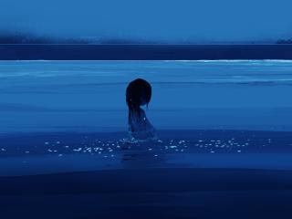 Girl in Water Anime wallpaper