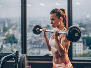 Girl Lifting Bar wallpaper