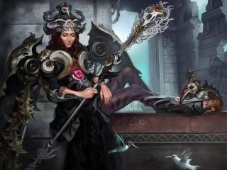 girl, queen, crown wallpaper