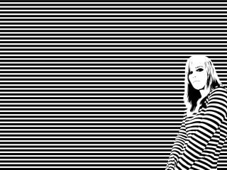 girl, shirt, stripes wallpaper