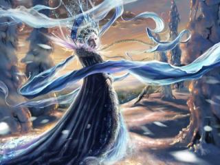girl, snow queen, cold wallpaper