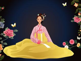 girls, japanese, dress wallpaper