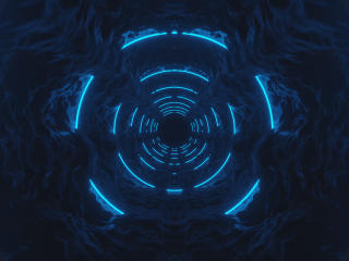 Glowing Tunnel wallpaper