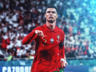GOAT Cristiano Ronaldo 2021 wallpaper