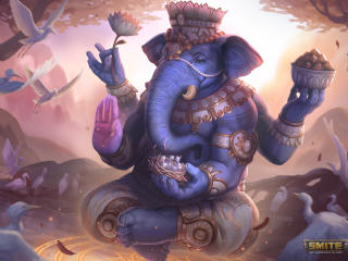 God Ganesh in Smite wallpaper
