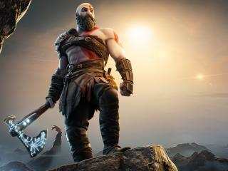 God Of War Kratos in Fortnite wallpaper