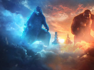 Godzilla and Kong Team Up wallpaper