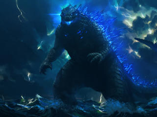 Godzilla Digital Art 2021 wallpaper