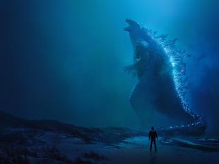 Godzilla King of the Monsters Poster 8K wallpaper