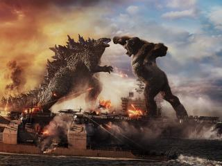 Godzilla vs King Kong 4K Fight wallpaper