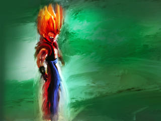 HD Wallpaper | Background Image Gogeta Art