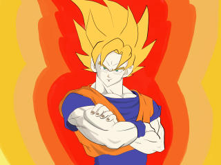 Goku Cartoon Art wallpaper