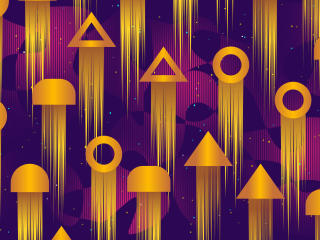 Golden Geometric Shapes wallpaper