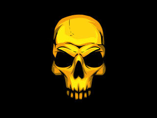 Golden Skull wallpaper