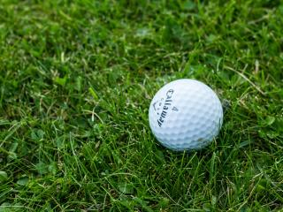 golf, ball, grass wallpaper
