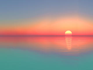 Gradient Calm Sunset wallpaper