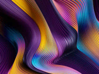 Gradient Flow Lines wallpaper