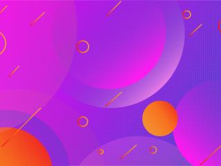 Gradient Geometric Vector Art wallpaper