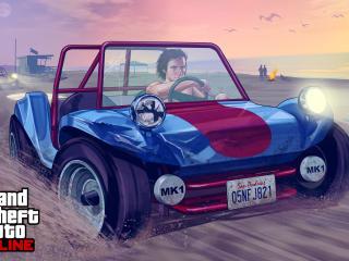 grand theft auto v, gta online, beach wallpaper